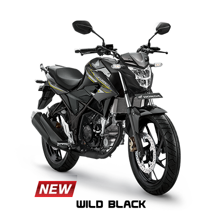 Striping dan warna Honda all new CB150R Tahun 2017 Wild Black