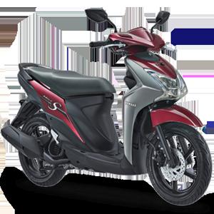 Pilihan warna dan striping Yamaha Mio S Spirit Red 2017 2018