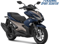 Aerox 155 VVA S Version Matt Blue Biru 2018