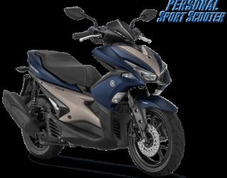 Aerox 155 VVA S Version Matt Blue Biru 2018