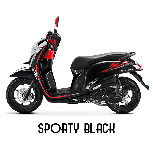 Honda Scoopy Tahun 2018 Sporty Black Hitam