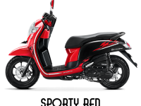 Honda Scoopy Tahun 2018 Sporty Red Merah