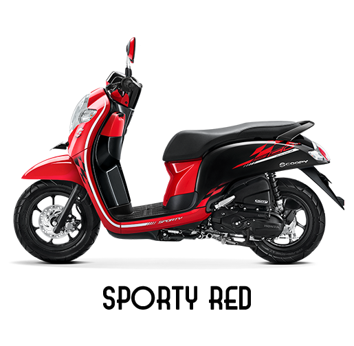 Honda Scoopy Tahun 2018 Sporty Red Merah