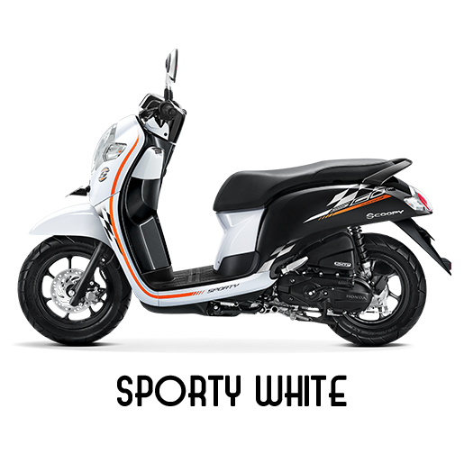 Honda Scoopy Tahun 2018 Sporty White Putih