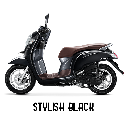 Honda Scoopy Tahun 2018 Stylish Black Hitam
