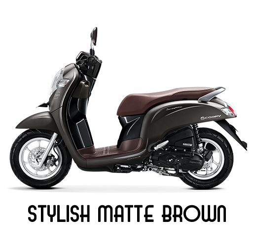 Honda Scoopy Tahun 2018 Stylish Matte Brown Cokelat