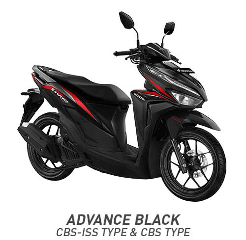 All New Vario 125 Advanced Black Hitam CBS dan CBS ISS 2018