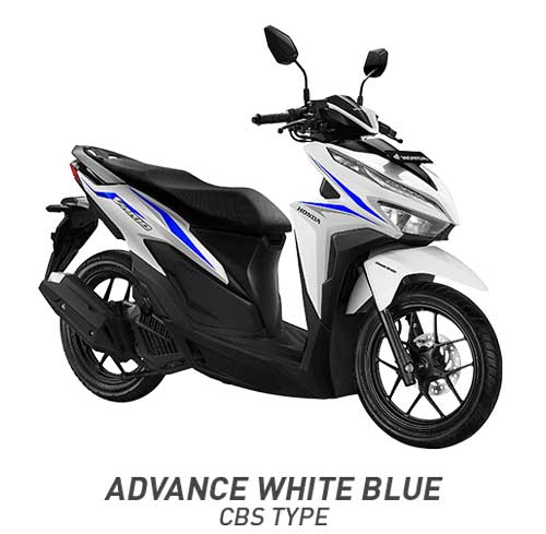 All New Vario 125 Advanced White Putih Biru CBS 2018