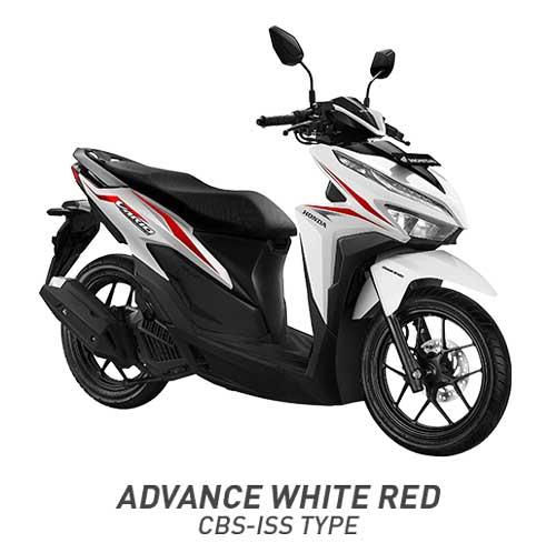 All New Vario 125 Advanced White Red Putih Merah CBS ISS 2018