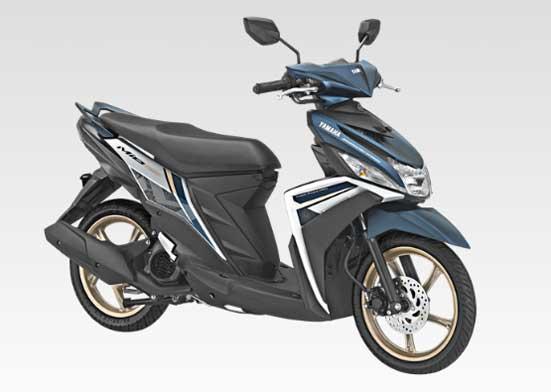 Yamaha Mio M3 125 Aks sss Aggresive white blue biru